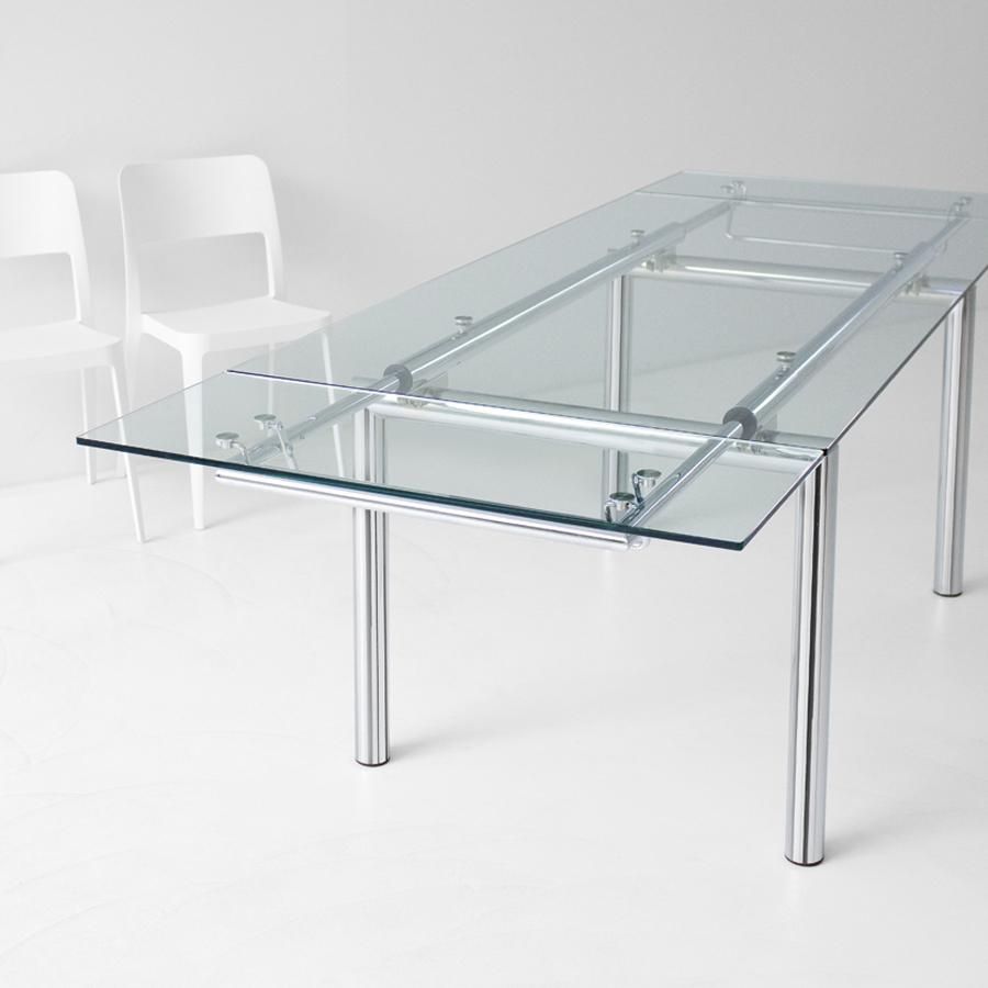 Ausziehbarer designertisch aus glas mambo r arredas for Designertische glas