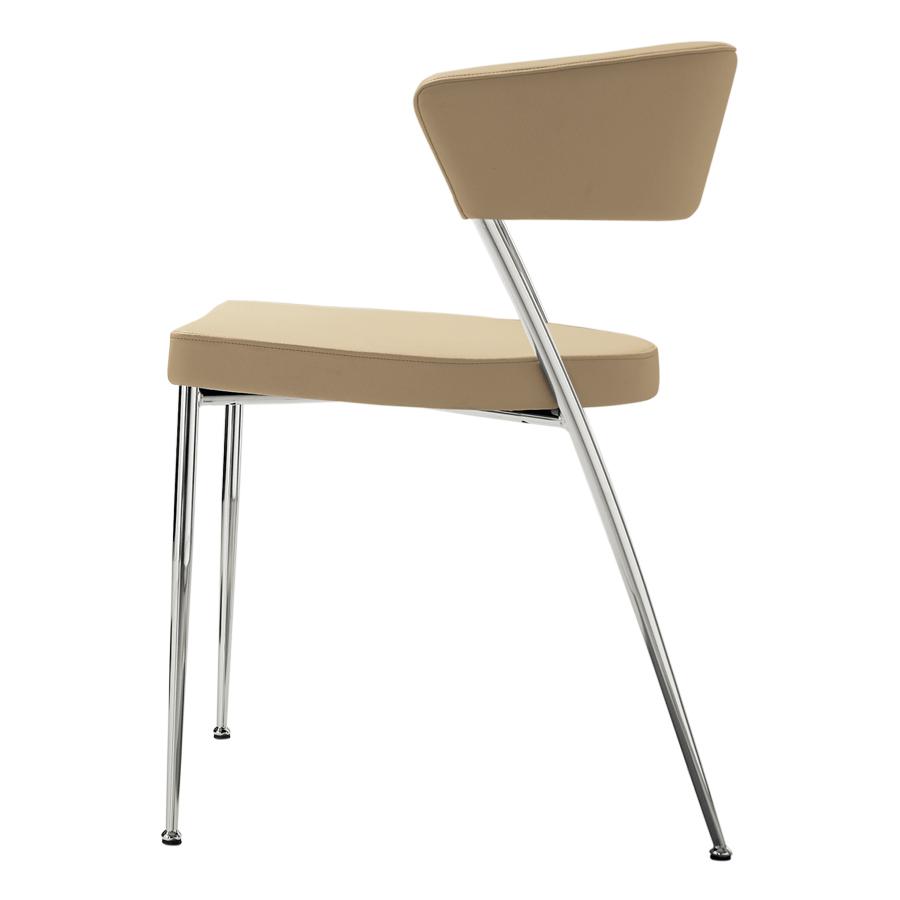 stuhl mit polsterung und bezug aus echtem leder prinz s. Black Bedroom Furniture Sets. Home Design Ideas